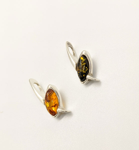 Sterling Silver and Baltic Amber Pendant