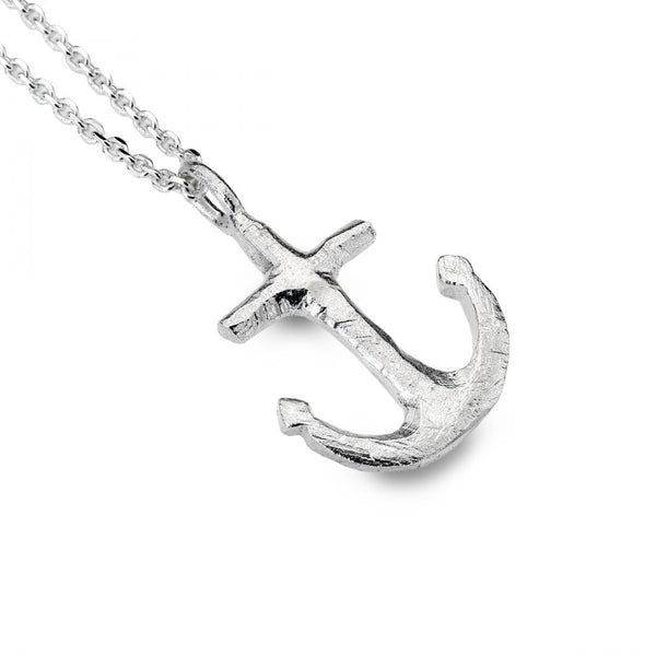 Sea Gems Sterling Silver Anchor Pendant P1381