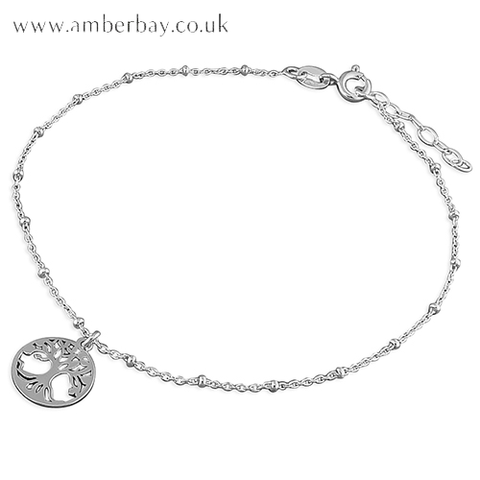 Sterling Silver Tree of Life Anklet