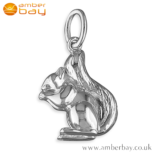 Sterling Silver Squirrel Pendant/Charm