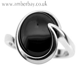 Sterling Silver and Black Onyx Ring
