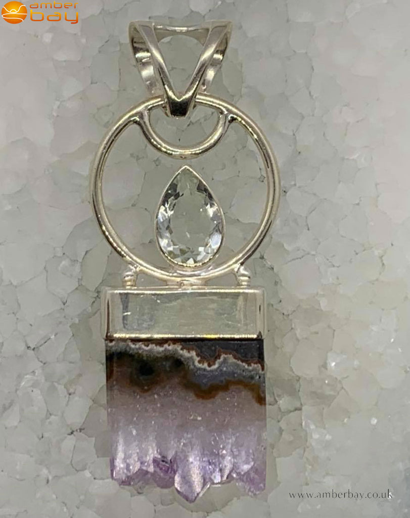 Sterling Silver Amethyst and Blue Topaz Pendant
