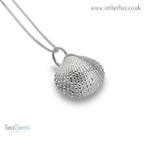 Sea Gems Sterling Silver Cockle Shell Pendant P3438