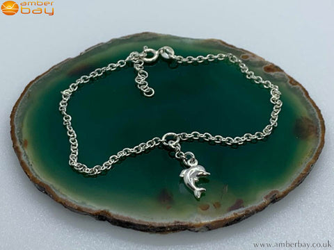 Sterling Silver Dolphin Anklet