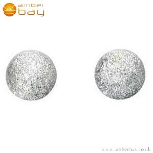 Silver Frosted Ball Studs