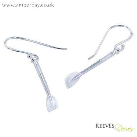 Silver Jig Oar Earrings