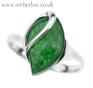 Sterling Silver and Green Aventurine Ring