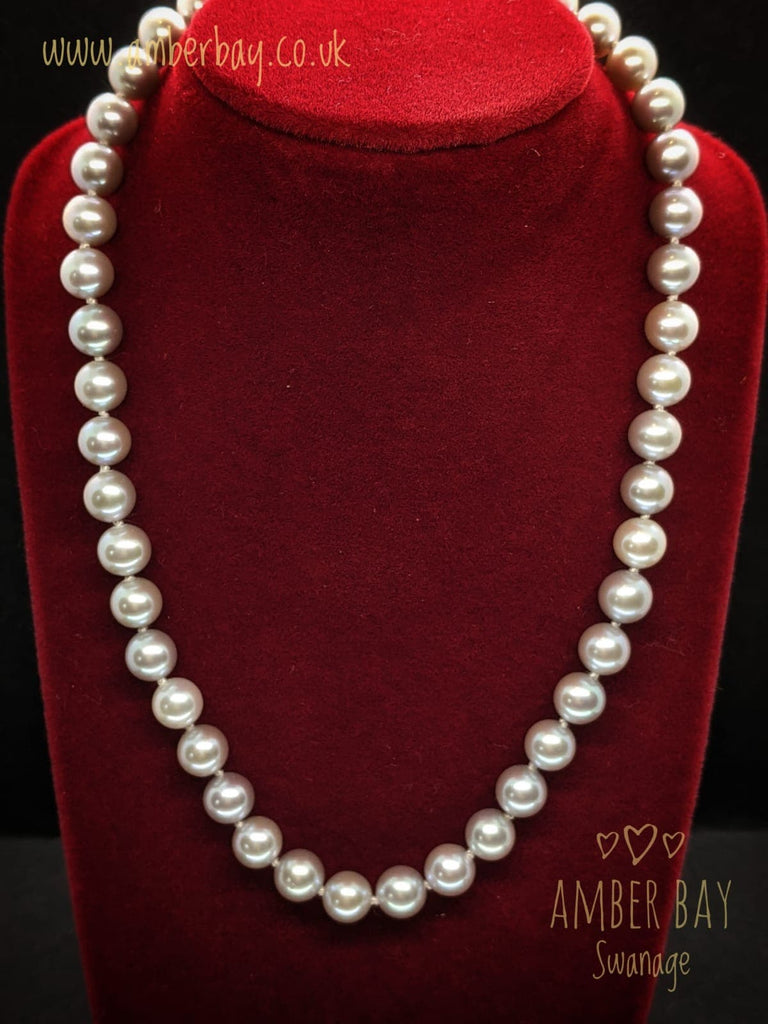 Classic Silver and Grey Freshwater Cultured Pearl Necklace