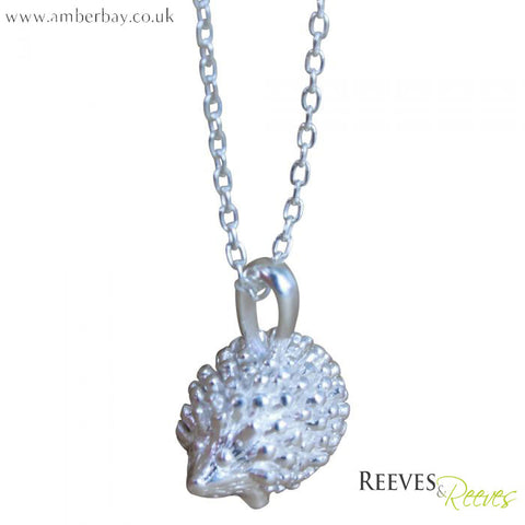 Reeves and Reeves Silver Hedgehog Necklace