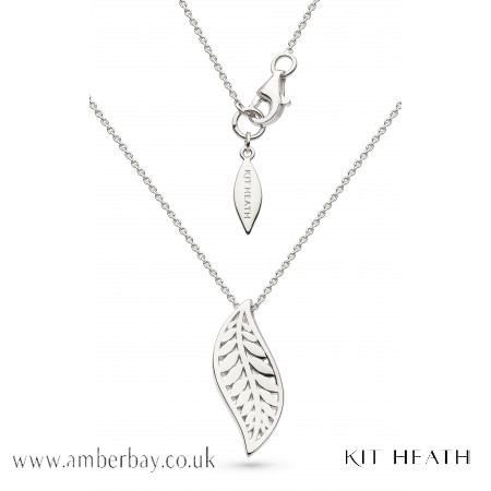 Silver Kit Heath Blossom Eden Leaf Necklace