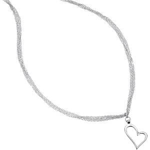 Silver Mesh Heart Necklace