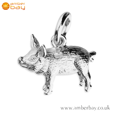 Sterling Silver Pig Pendant/Charm