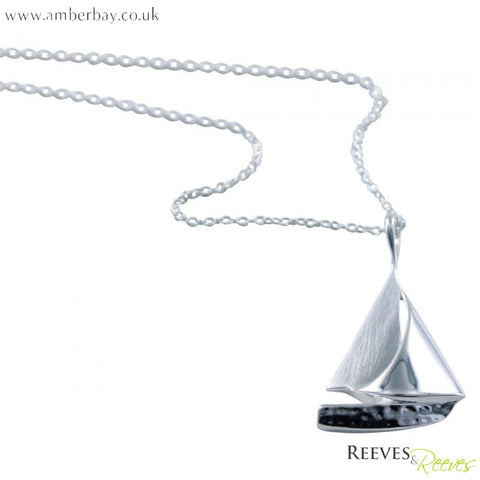 Silver Sailing Boat Necklace