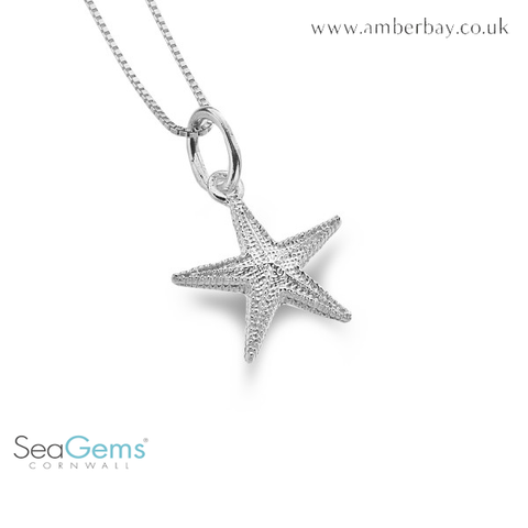 Sea Gems Sterling Silver Starfish Pendant P3440