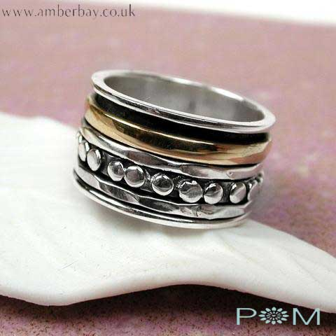 Silver and Brass Spinning Ring