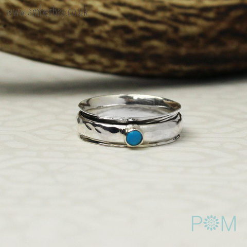 Silver and Turquoise Spinning Ring