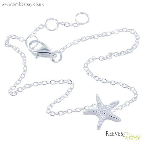 Reeves and Reeves Silver Starfish Bracelet