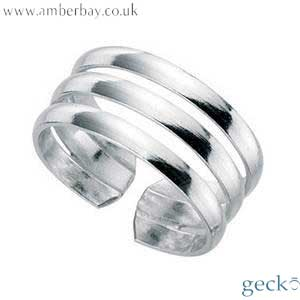 Silver Triple Lined Toe Ring