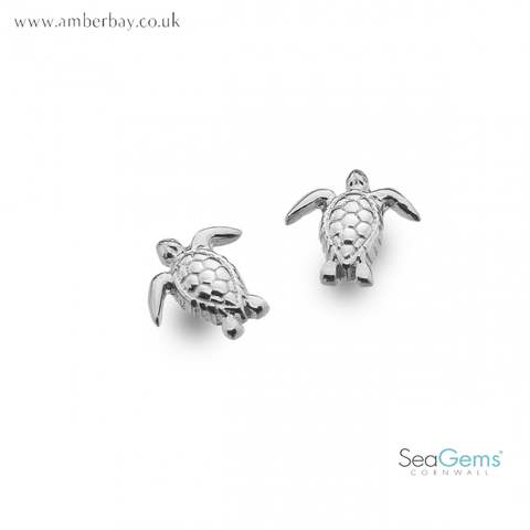 Sea Gems Sterling Silver Turtle Ear Studs P3783