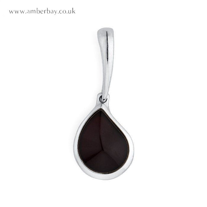 Sterling Silver and Cherry Amber Pendant