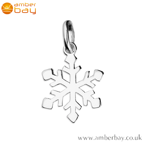 Sterling Silver Snowflake Pendant/Charm