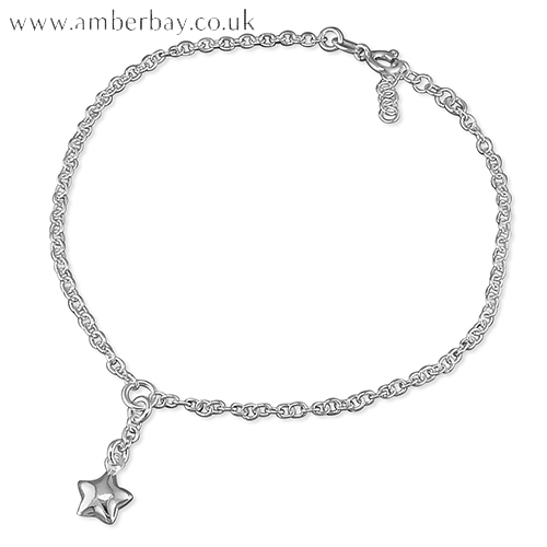 Sterling Silver Star Anklet