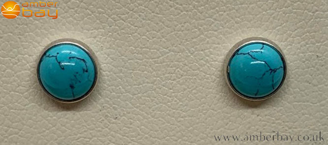 Sterling Silver and Turquoise Stud Earrings