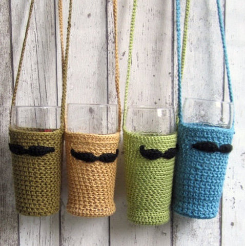 Crochet Beer Glass Holder by Handmade by Hema