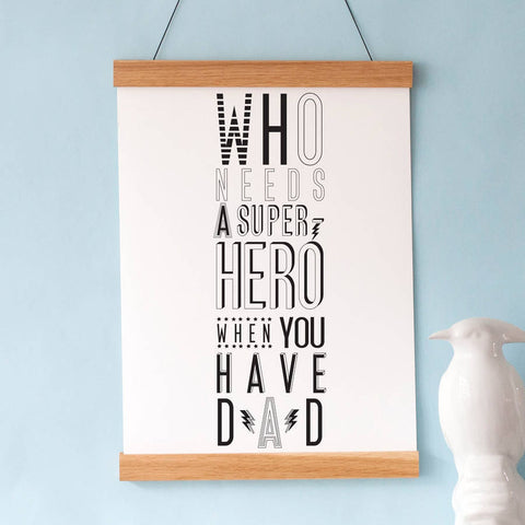 Karin Akesson Design Super Hero Dad Wall Art