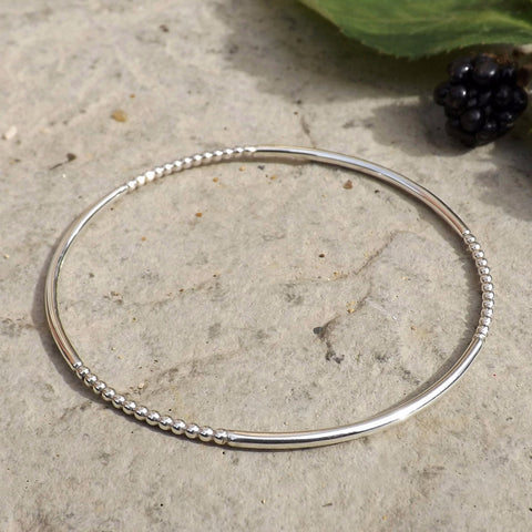 Silver Berry Bangle - Curious Magpie Jewellery - 1