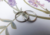 Silver Berry Stacking Rings - Curious Magpie Jewellery - 4