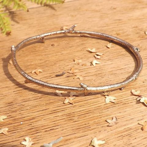 Brass Twig Bangle - Curious Magpie Jewellery - 1
