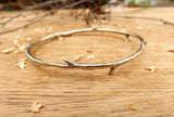 Brass Twig Bangle - Curious Magpie Jewellery - 4
