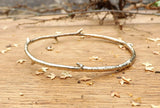 Brass Twig Bangle - Curious Magpie Jewellery - 2