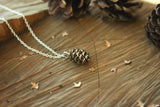 Brass Pinecone Necklace - Curious Magpie Jewellery - 3