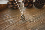 Brass Pinecone Necklace - Curious Magpie Jewellery - 2