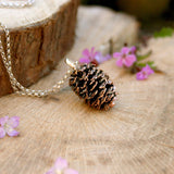 Chunky Copper Pinecone Necklace - Curious Magpie Jewellery - 1