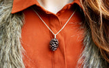 Chunky Copper Pinecone Necklace - Curious Magpie Jewellery - 4