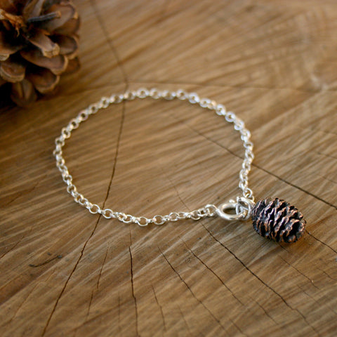 Copper Pinecone Bracelet - Curious Magpie Jewellery - 1
