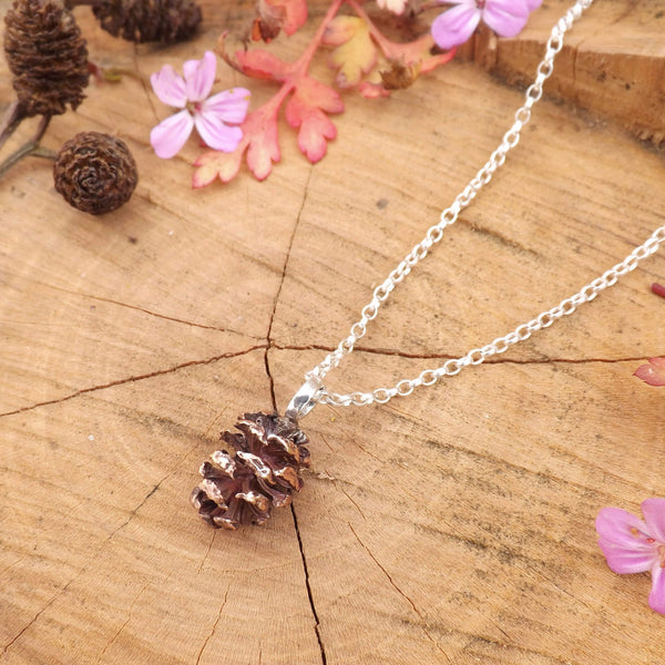 Copper Pinecone Necklace - Curious Magpie Jewellery - 1