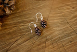 Copper Pinecone Earrings - Curious Magpie Jewellery - 3