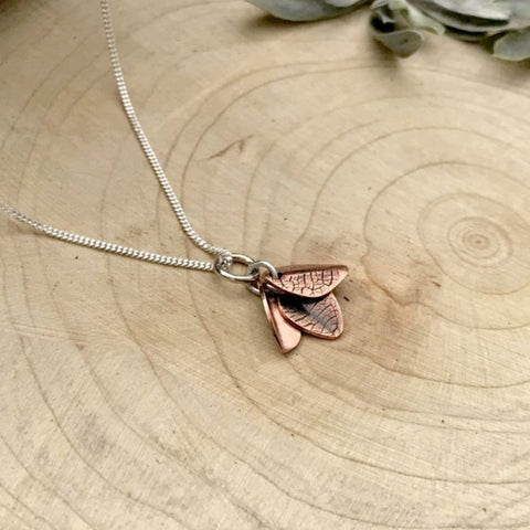 Handmade Copper Bluebell Necklace by Curious Magpie