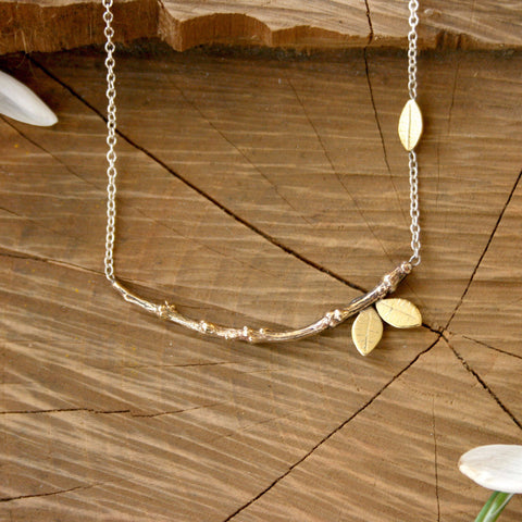 Brass Tree Branch Necklace - Curious Magpie Jewellery - 1