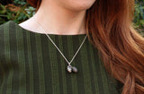 Silver Twin Pinecone Necklace - Curious Magpie Jewellery - 4