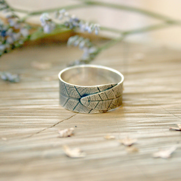 Silver Leaf Ring - Curious Magpie Jewellery - 1