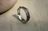 Men's Silver Double Twig Ring - Curious Magpie Jewellery - 2