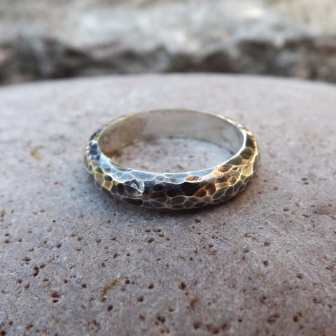 Men's Meteorite Ring - Curious Magpie Jewellery - 1