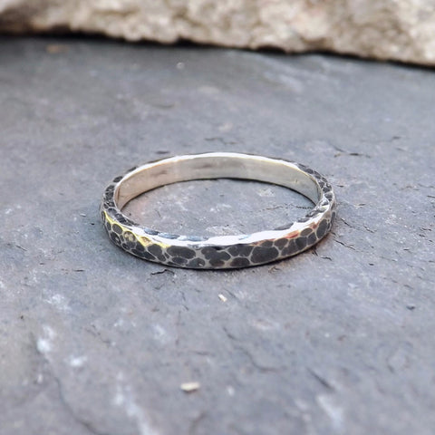 Narrow Meteorite Ring - Curious Magpie Jewellery - 1