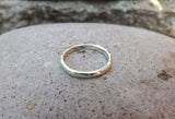 Silver Meteorite Wedding Rings - Curious Magpie Jewellery - 4