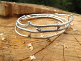 Brass Twig Bangle - Curious Magpie Jewellery - 6